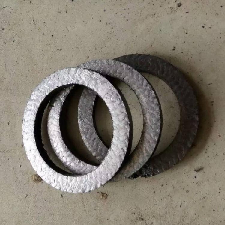 厂家定做柔性石墨填料环 耐高温石墨填料密封垫 加钢丝石墨垫密封片