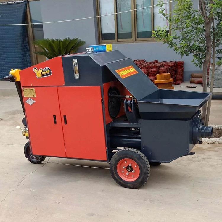 卧式二次构造泵输送泵大颗粒上料机二次结构浇筑地泵柴油版二次结构上料泵