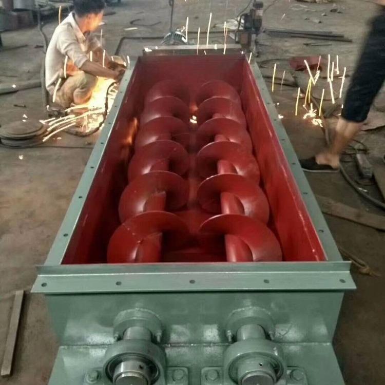 SJ型100双轴粉尘加湿机现货供应石灰厂专用卧式加湿机搅拌机强制式搅拌机系列