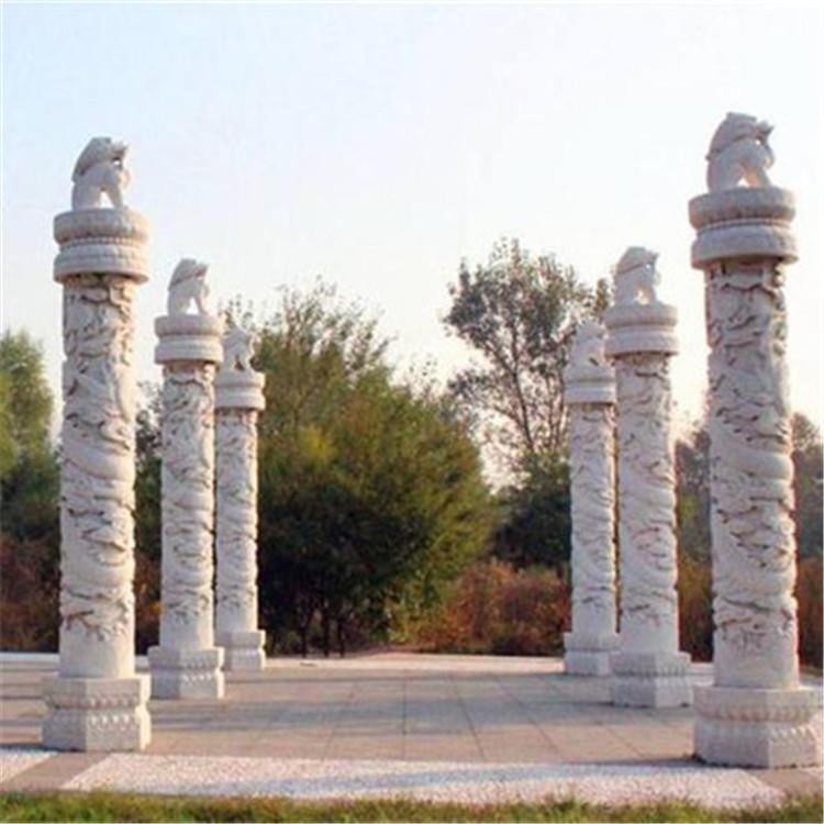 出售石雕龙柱建筑文化柱花岗岩文化柱