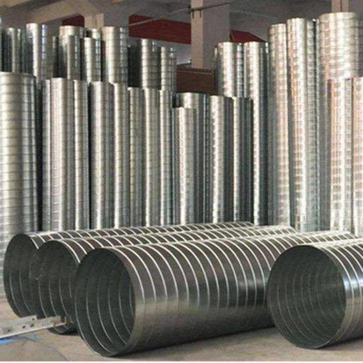 螺旋风管,不锈钢螺旋风管,河北螺旋风管厂,排烟除尘螺旋风管加工厂