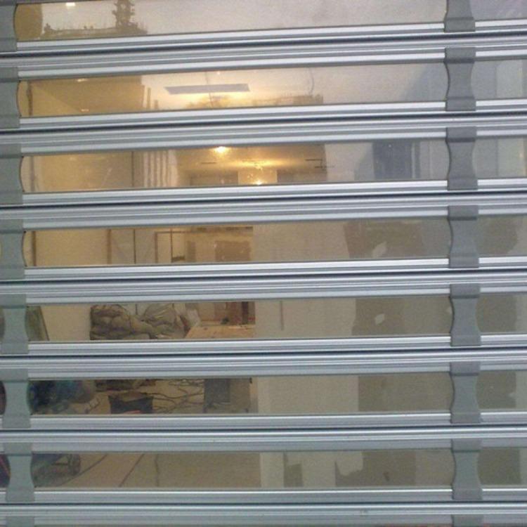 铝合金水晶卷帘门商场折叠水晶门安装 水晶门卷帘门定制 天津水晶门厂家