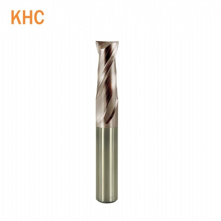 德国KHC进口2刃钨钢立铣刀键槽铣刀HRC55涂层铣刀钢件不锈钢铣刀立铣刀