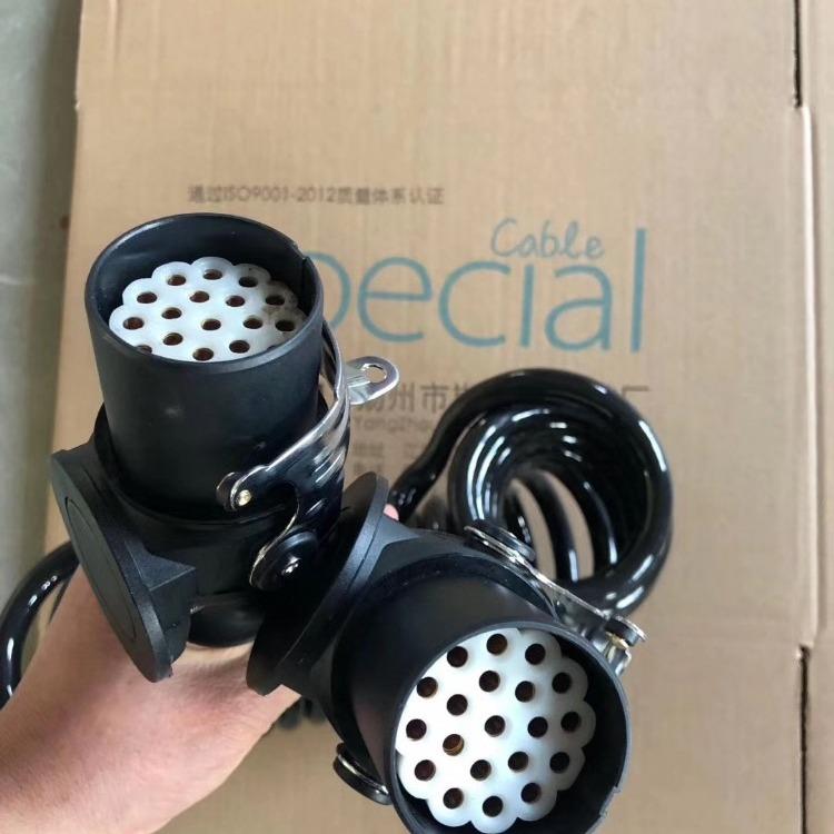 斯拜秀业生产20芯挂车弹簧线束,电源螺旋线,挂车监控设备连接线