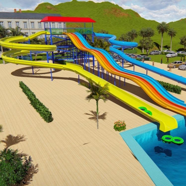 螺旋组合滑梯  成人滑梯 水上乐园 水滑道生产厂家