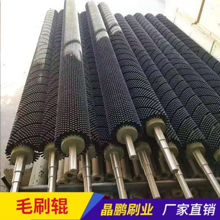 做工业机械尼龙丝毛刷 高耐磨清洁除尘圆形毛刷轮 清洗毛刷辊
