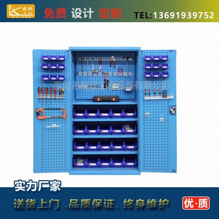 内蒙古多层格工具柜,零件工具柜规格,铁皮加厚工具柜利欣设备供应