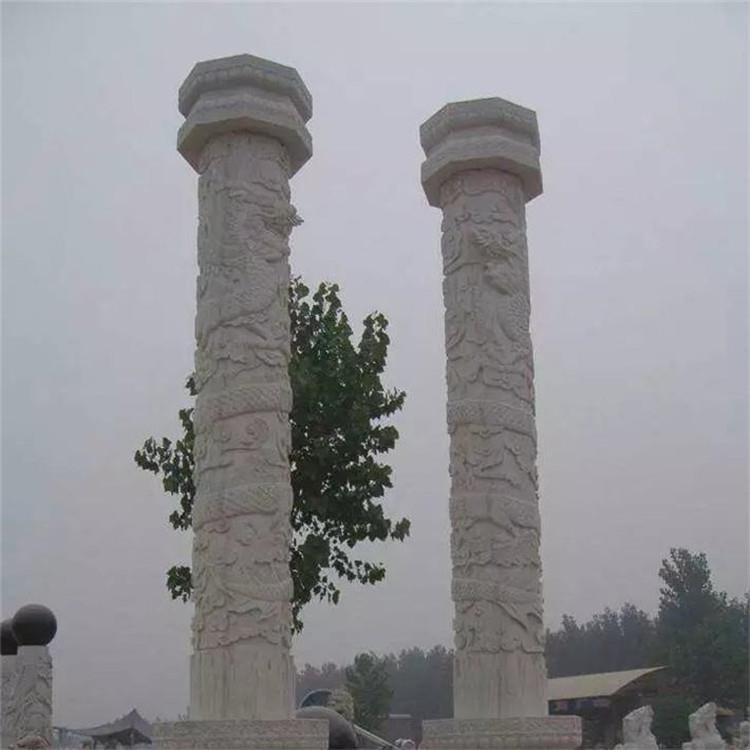 直销批发石雕盘龙柱建筑文化柱花岗岩文化柱