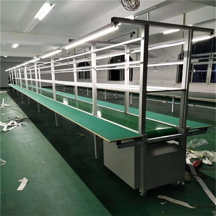 工厂流水线工作台装配生产线自动化防静电皮带线输送机组装流水线