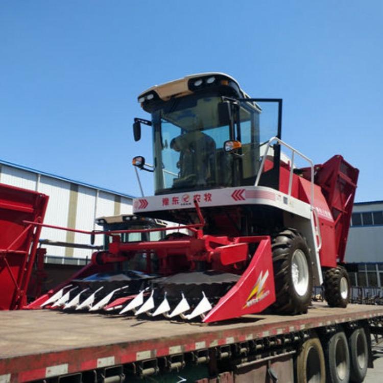 全自动大型拖拉机牵引式秸秆收割机 自走式青储收割机现货销售