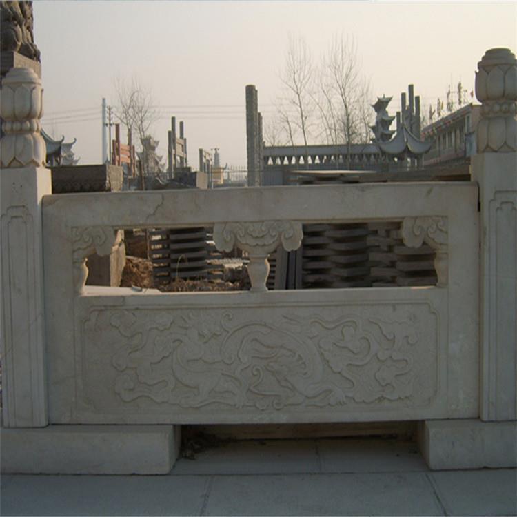 低价供应汉白玉石栏杆河提防护栏庭院护栏