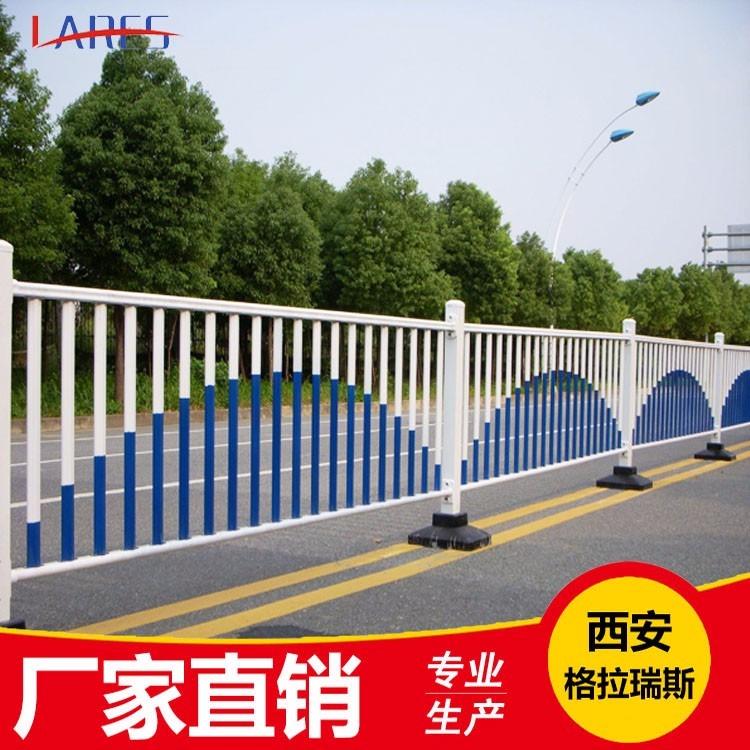 西安城市道路护栏厂 加工定制人行道市政道路护栏 广告牌京式道路护栏 送货上门
