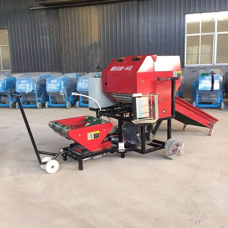 牛羊草料打捆机 新款割捆机 稻草小麦牧草水稻收割打捆一体机