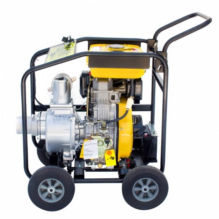 大马力4寸柴油机水泵 单缸高压水泵