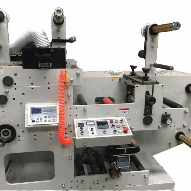 厂家直销 高精度560型8色物流标印刷机热敏纸快递单三层不干胶