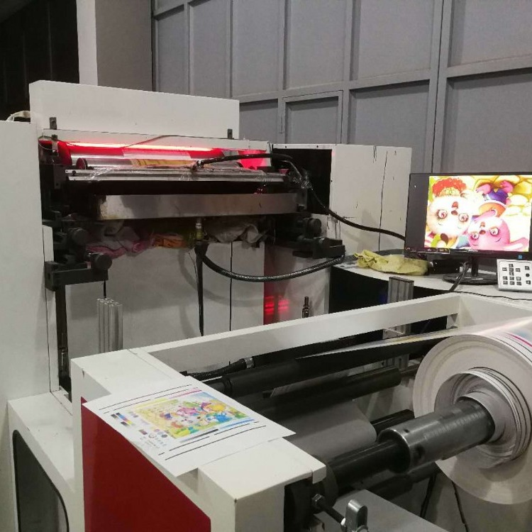 卫星式组合式柔版印刷机 汉堡纸拷贝纸 双面印刷套位精准