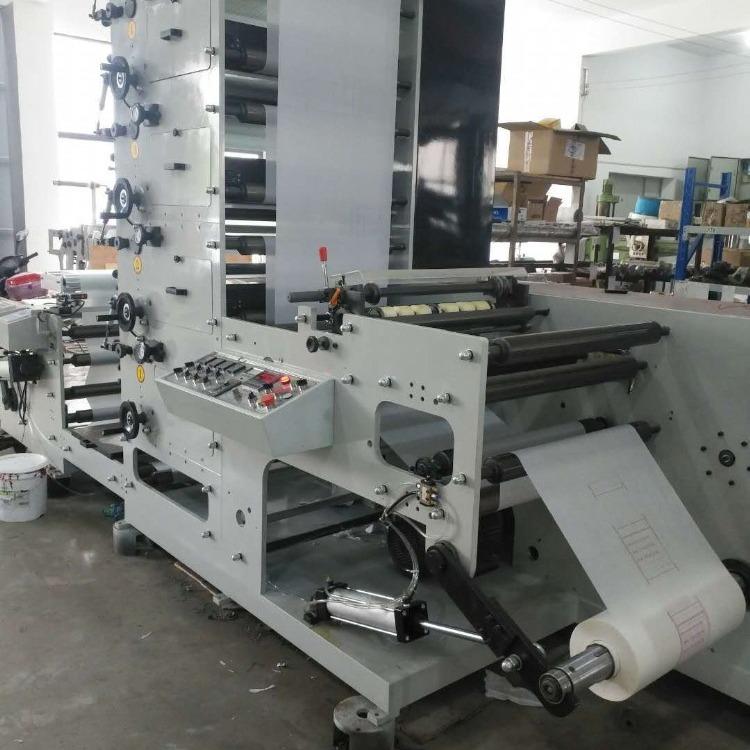 厂家供应 560型四色不干胶柔版印刷机 纸杯印刷机