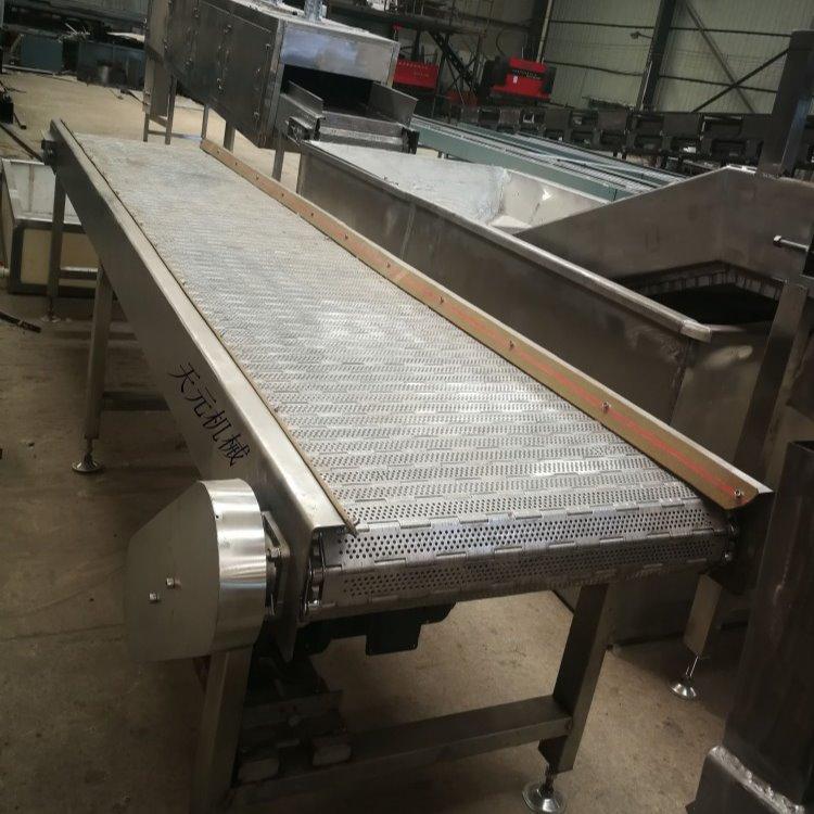 不锈钢链板输送机 板链流水线 天元非标定制平面 提升 转弯输送机
