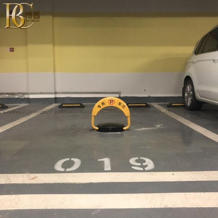 停车场安装地磁感应车位锁 自动升降车位锁 博昌支持OEM