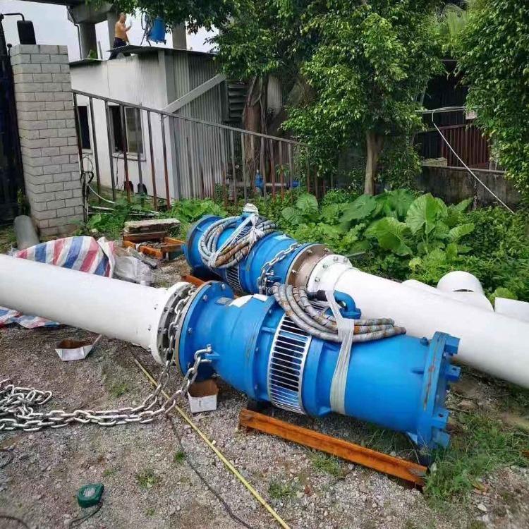 便捷式安装潜水轴流泵 立式潜水轴流泵 泵站建设用泵