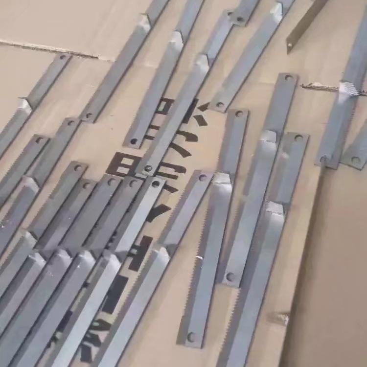 久严治金大量供应易撕口刀片,果冻刀片,网格刀片,包装机齿刀片,卫生纸刀片