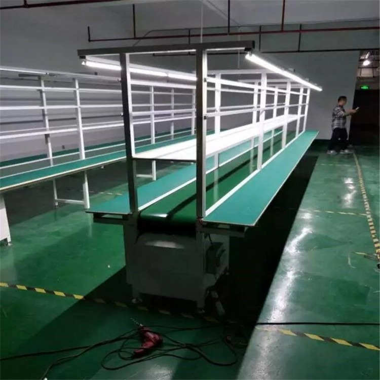 防静电皮带输送线 皮带输送流水线 简易涂装流水线 平面输送线