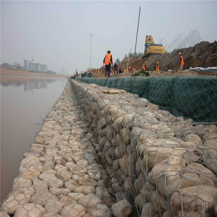 西安石笼网,河道石笼网 石笼网箱 运河水利石笼网 防汛石笼网