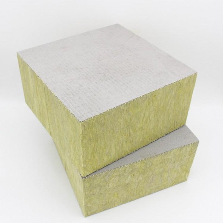 岩棉复合板外墙砂浆岩棉板 外墙砂浆岩棉复合板 竖丝砂浆岩棉板 岩棉复合板