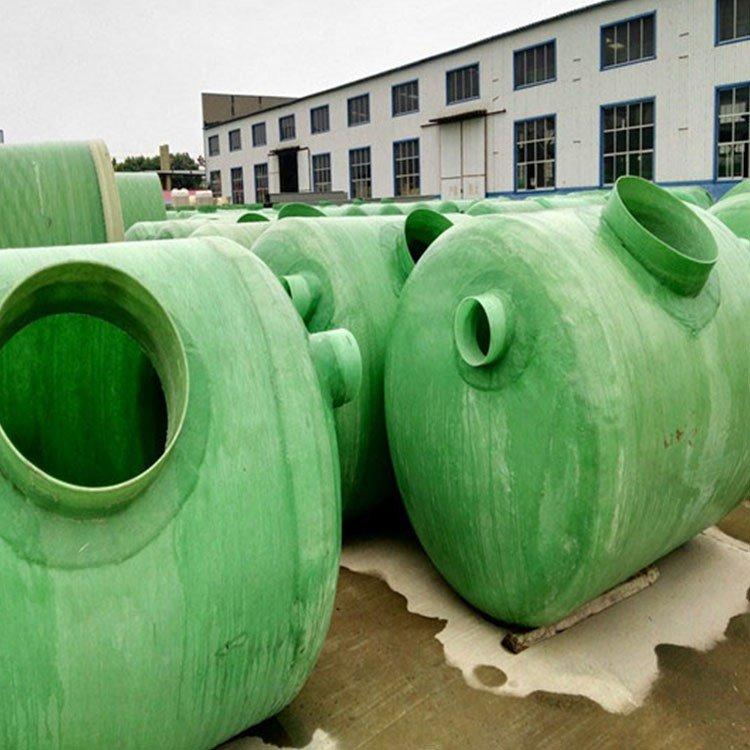 小区专用玻璃钢化粪池价位 河南玻璃钢隔油池 一体化玻璃钢化粪池图片