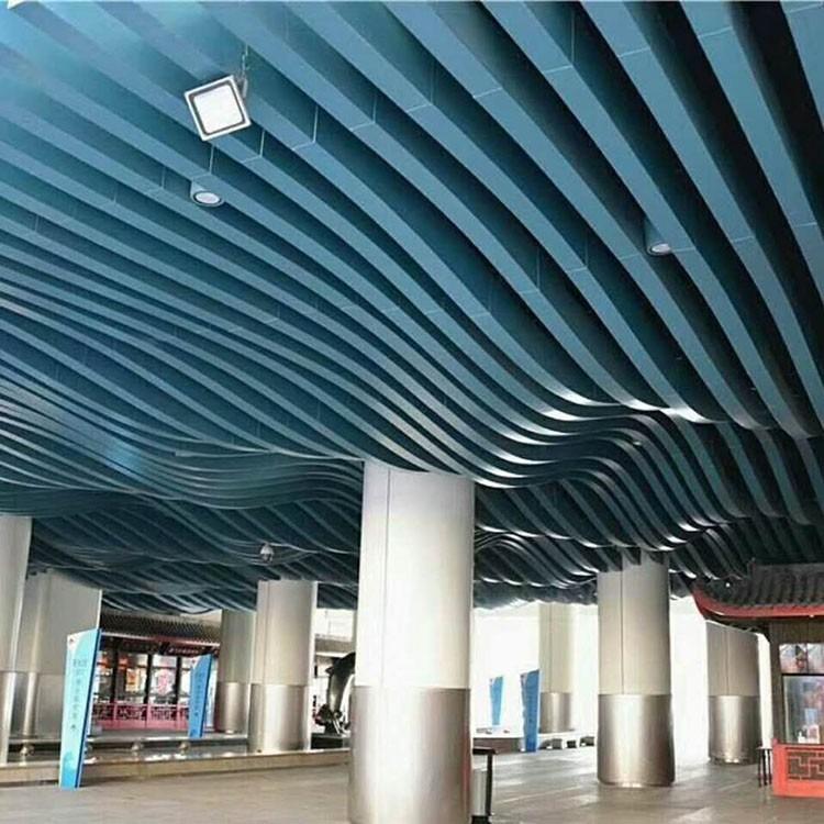 定制波浪造型铝板 弧形铝板吊顶