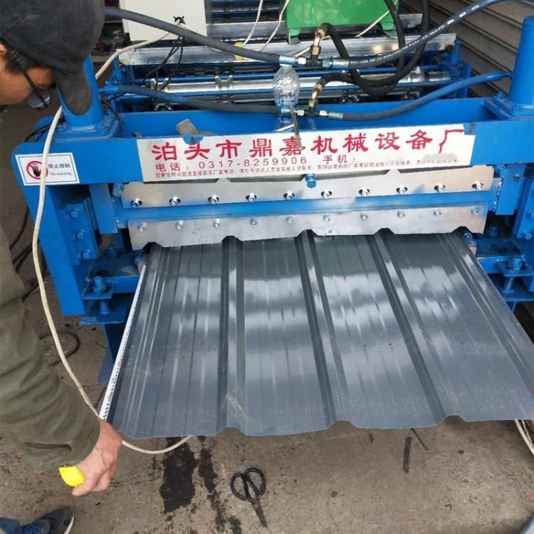 全自动彩钢压瓦机成型机_彩钢屋顶板压瓦机_彩钢瓦设备