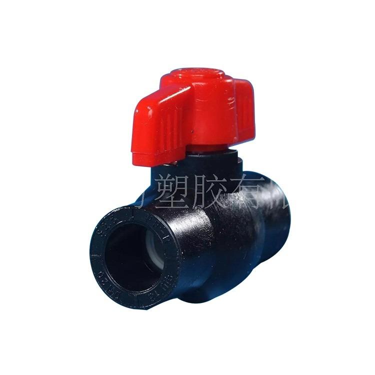 HDPE双活接球阀pe焊接球阀pe热熔球阀pe管件球阀价格多种规格
