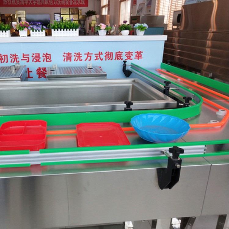 碗碟自动传输带 餐具回收装置 欧倍力自动传送带定制