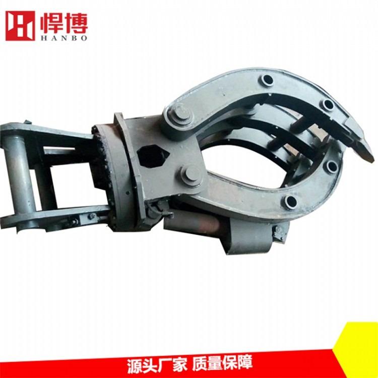 液压抓钢机  360度液压旋转抓钢机 双缸有力固定式抓废铁抓钢机