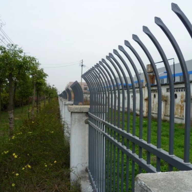 浙江嘉兴护栏厂家  生产锌钢围墙护栏  钢管弯枪尖护栏  防爬护栏