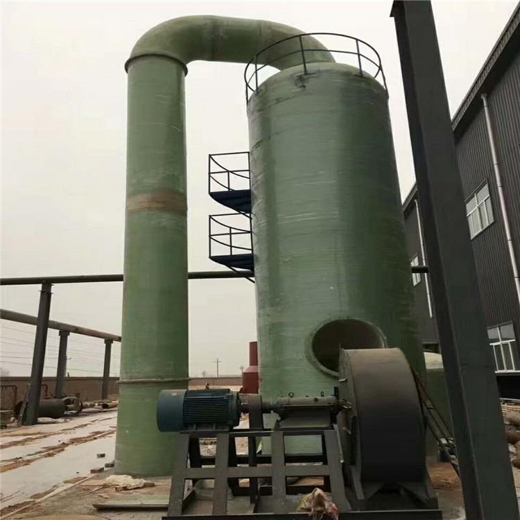 大型玻璃钢脱硫塔脱硫除尘设备 拼接式脱硫塔砖厂 脱硫塔除尘器酸雾净化塔