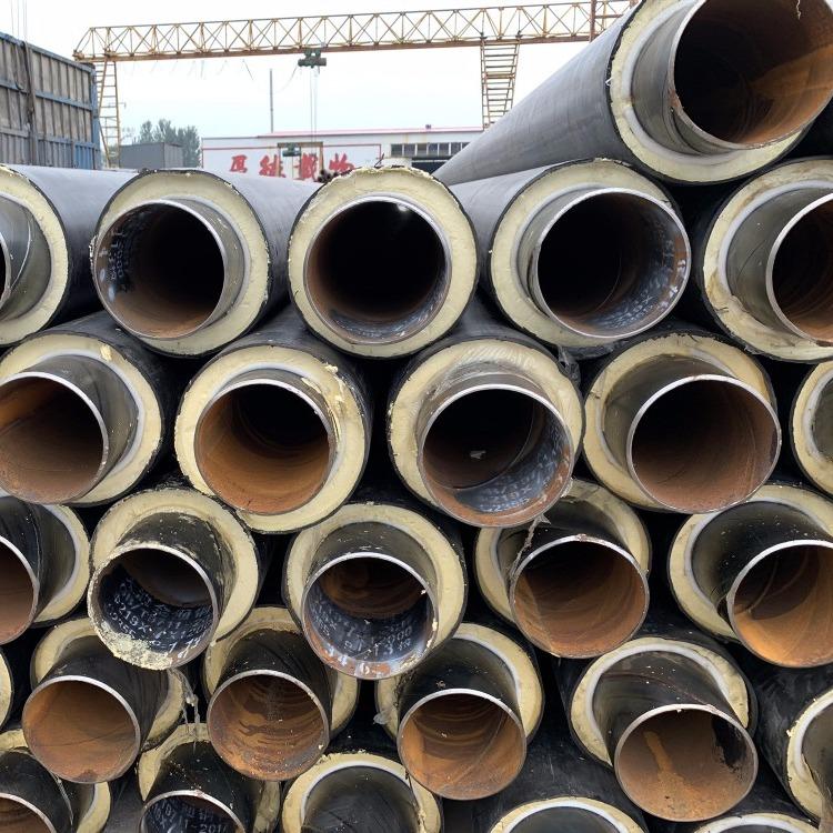 小区蒸汽钢套钢保温管道 聚氨酯保温管道蒸汽管道热力保温管