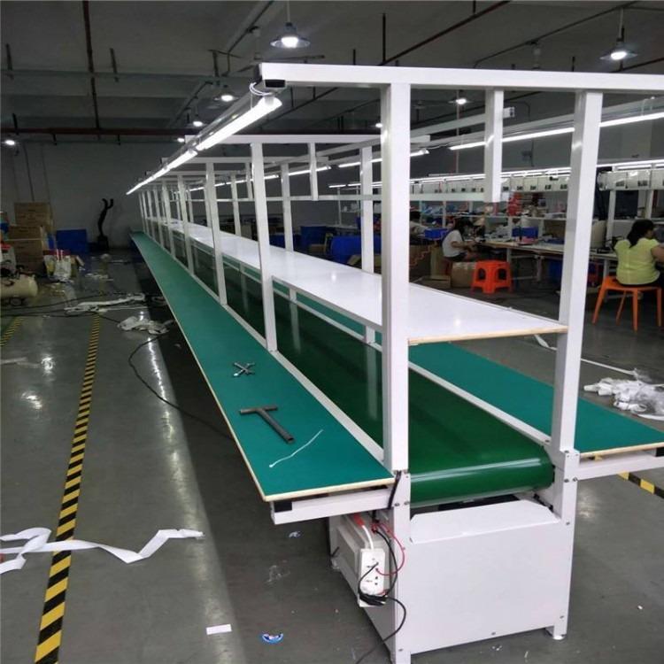 食品车间用铝型材带式输送机 直线型冷冻食品包装流水线