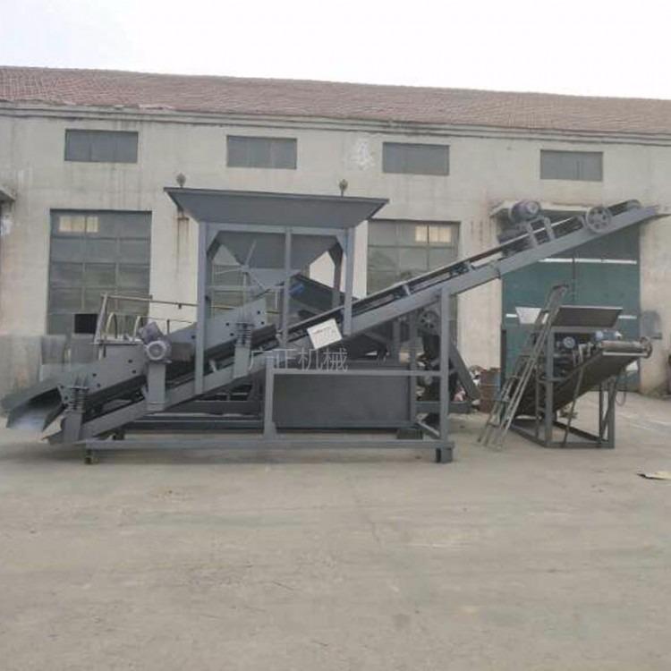 广正机械50滚筒式砂石分离筛沙机2030滚筒震动筛沙机厂家直销