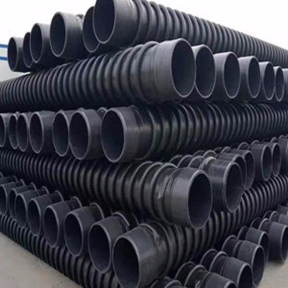 找优质高密度聚乙烯PE给水管材 HDPE结构壁B型管 缠绕结构壁增强管每米价格