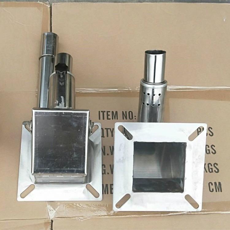 单管不锈钢吸料盒 38管吸料机盒 双管38管吸料盒,储料桶用吸料盒,底部吸料盒子