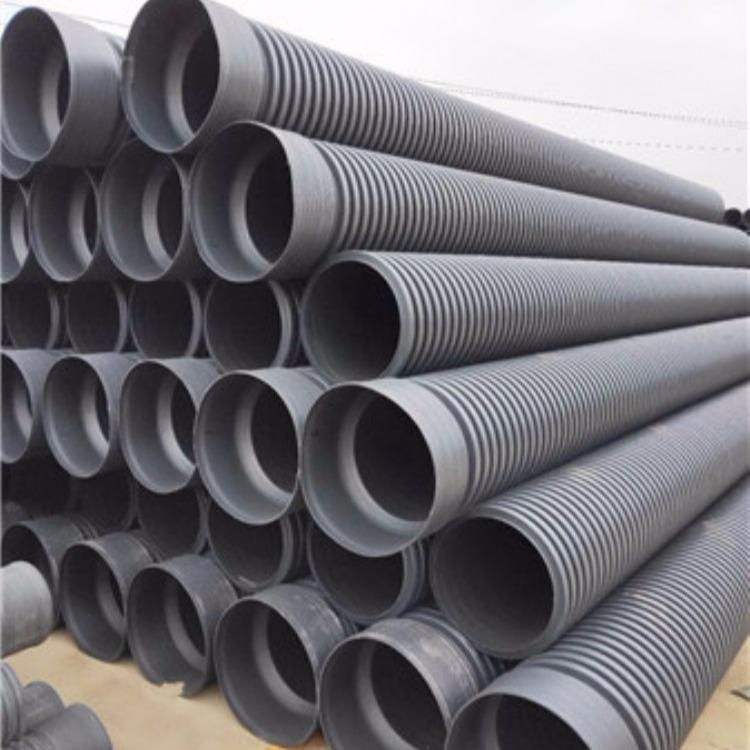 专业生产供应双壁波纹管材 DN200排污管 工程钢带增强波纹质优价廉型号齐全
