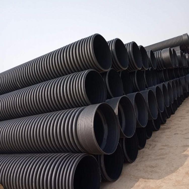 找优质波纹管 优质聚乙烯双壁波纹管材 pe钢带增强波纹管 DN200管质优价廉