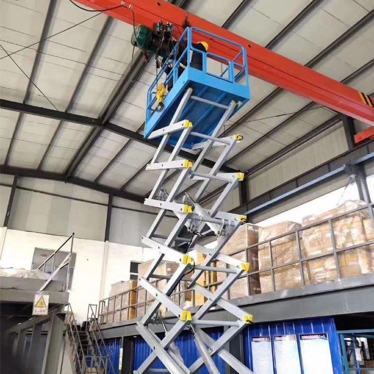 济南百铸供应宁德移动升降机6米8米10米12米14米高空维修专用SJY0.5-8小型电动液压升降机