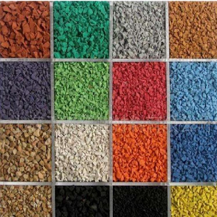 硅PU颗粒厂家批发销售 硅PU彩色颗粒 运动场跑道颗粒 体育塑胶专用颗粒 EPDM彩色橡胶颗粒