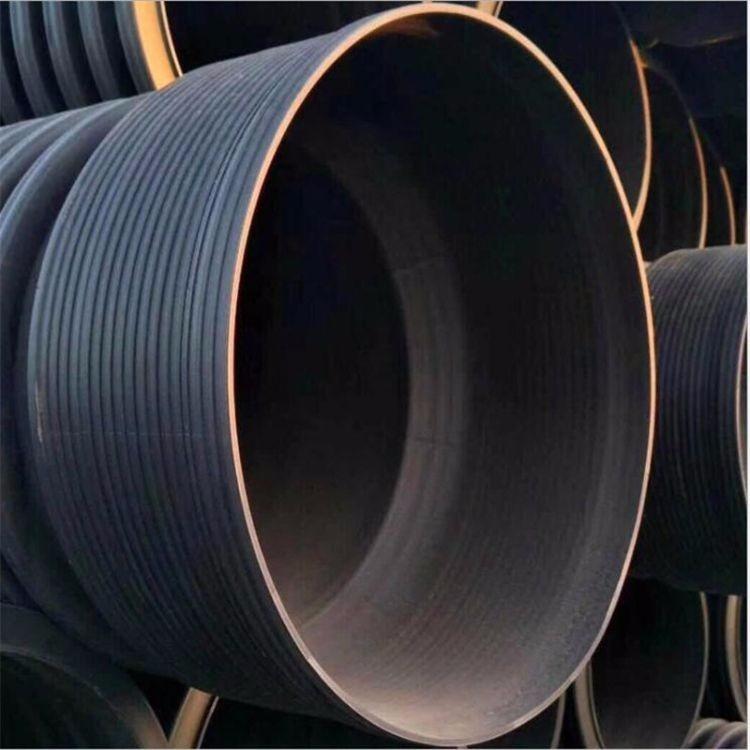 石家庄双壁波纹管厂家直销 DN200 大口径钢带增强波纹管型号全价格优联系我们