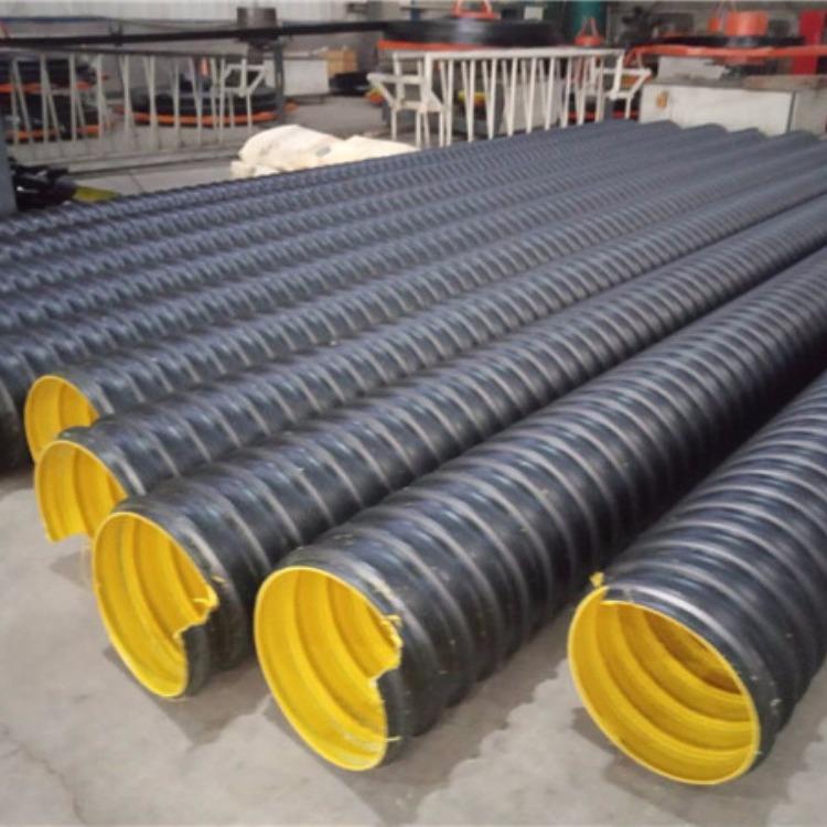 天津钢带波纹管 聚乙烯螺旋波纹管排水排污管 hdpe钢带管DN300欢迎致电联系我们