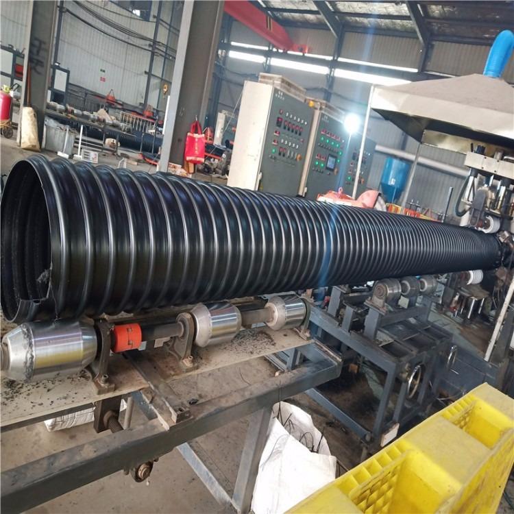 唐山钢带增强双壁波纹管 聚乙烯螺旋排污管 PE双壁波纹排污管