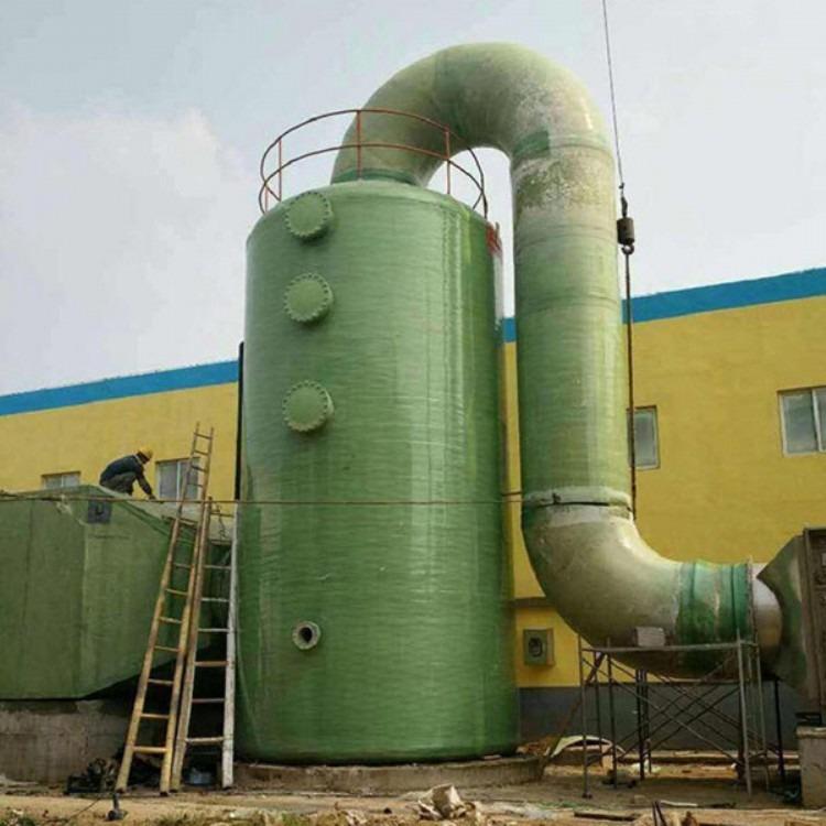 大型燃煤锅炉烟气治理脱硫塔 湿式脱硫塔 玻璃钢脱硫塔
