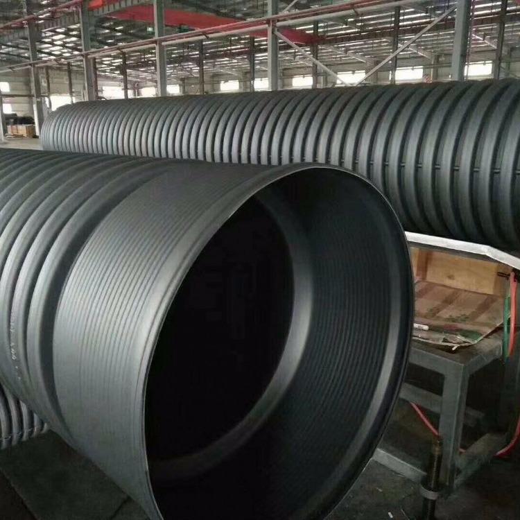 供应DN500排水管 PE高密度双壁波纹管的价格 PE水管排污管每米价格